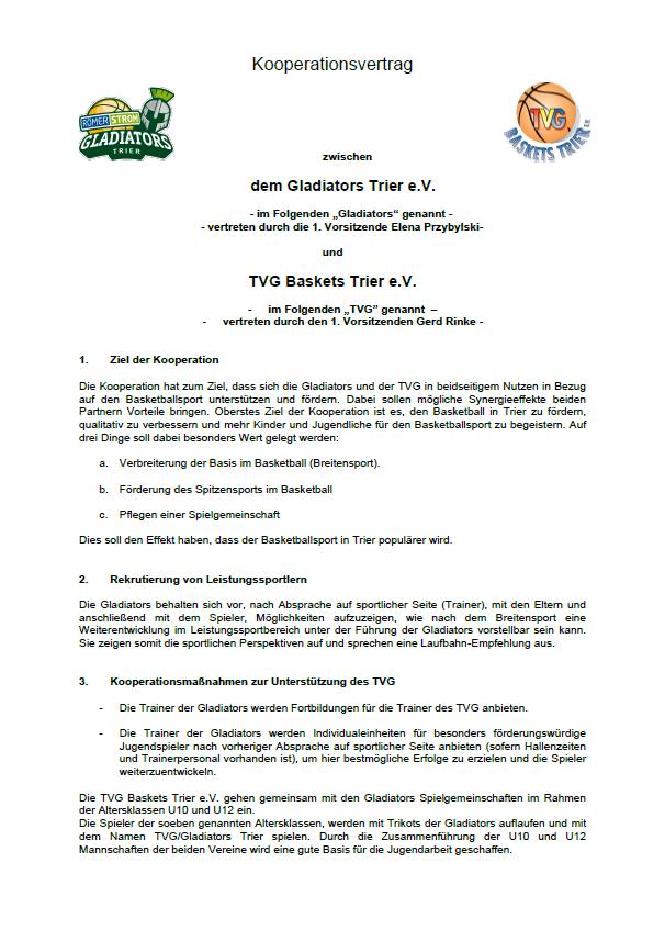 Kooperationsvertrag Seite 1